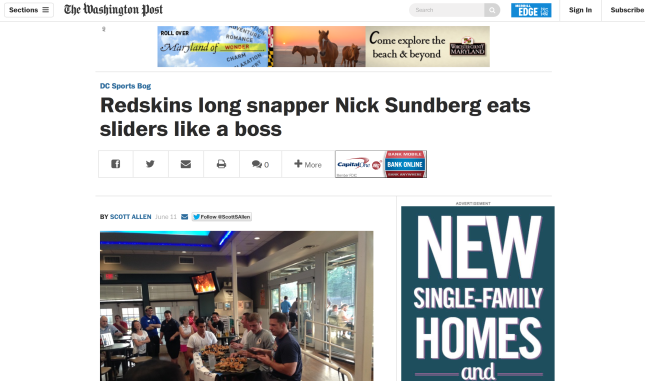 Nick Sundberg Top Golf Washington Post Article